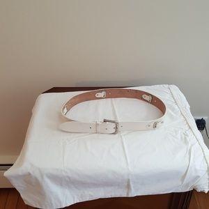 Dolce & Gabana White Leather Belt